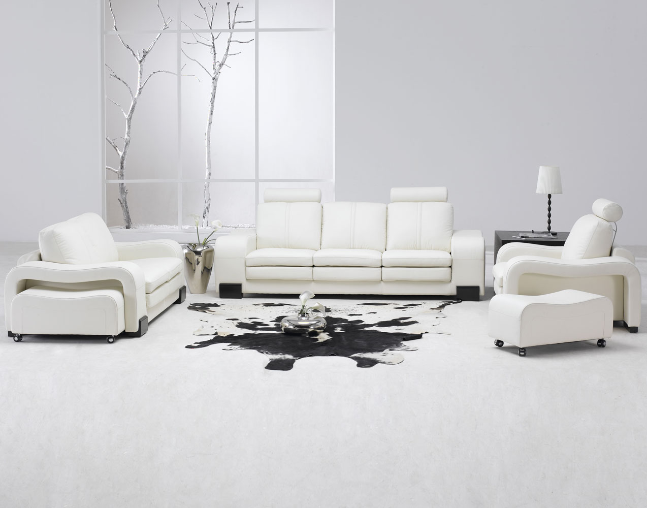 white leather chairs for living room office desk chair contemporary set modern sofa
