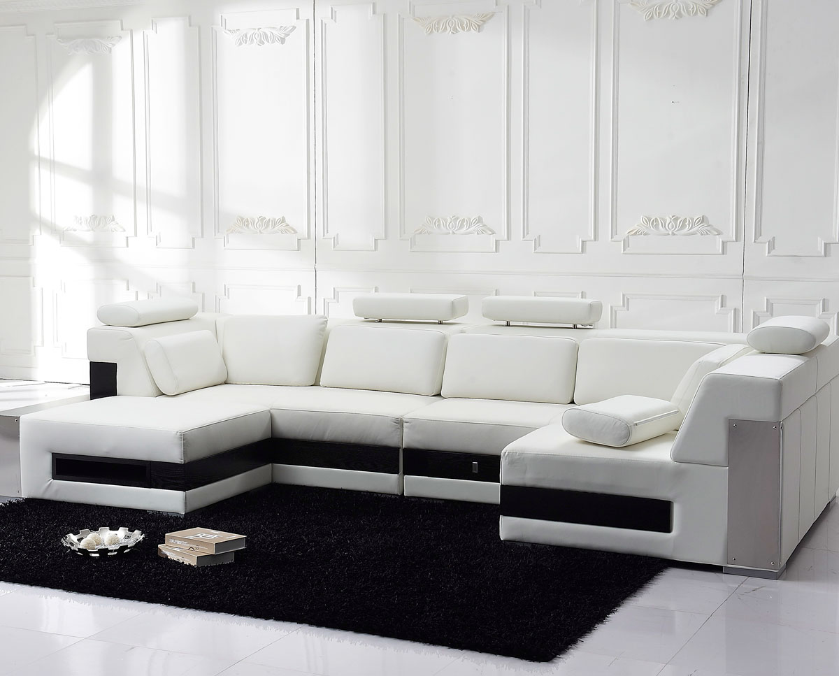 modern u shaped leather sofa throws large contemporary ivory l sectional
