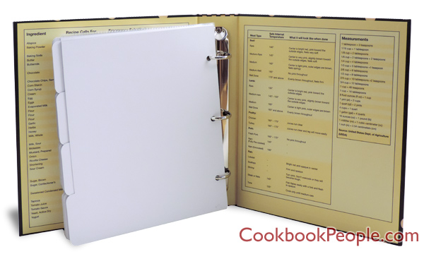 recipe card binder ring bound for your favorite recipes
