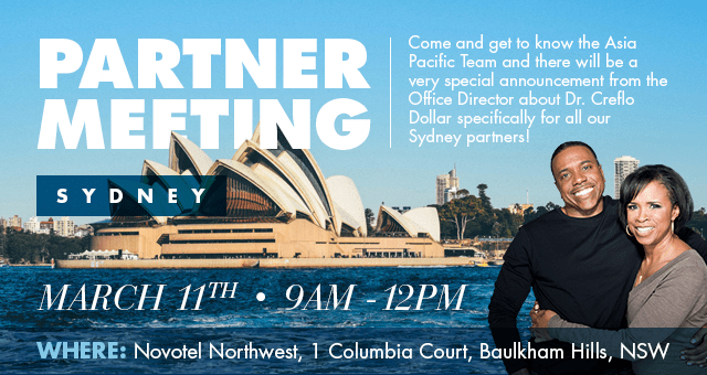 Creflo Dollar Ministries Sydney partner meeting