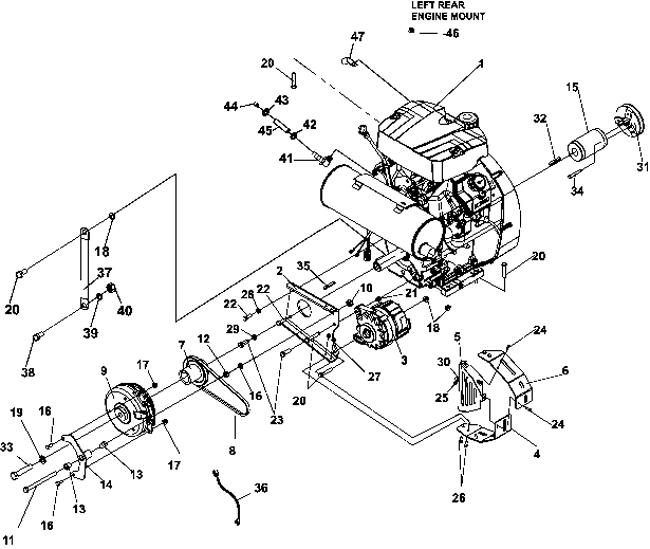 75-72012 440-4WD 34HP KOHLER AC GAS > KOHLER GAS ENGINE