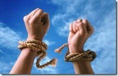 shackles hands tied