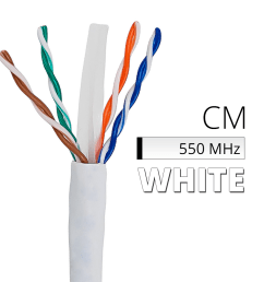 cat6 bulk cable 1000 ft spool box of white ethernet cord cm in wall rated [ 1001 x 1001 Pixel ]