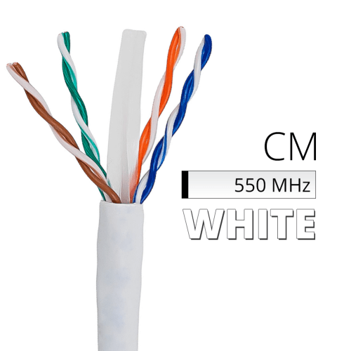 small resolution of cat6 bulk cable 1000 ft spool box of white ethernet cord cm in wall rated