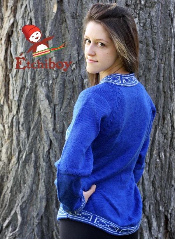 Blue Sweater With Métis Infinity Chandail Bleu Avec Infini Métis 3
