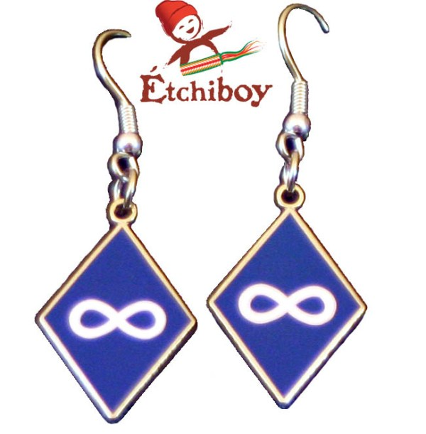 Earrings Boucles D'oreilles Métis Blue Bleues 1