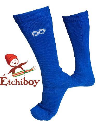 Socks Bas Alpaca Wool Laine Alpaga Blue Bleu One Size Fits All 1
