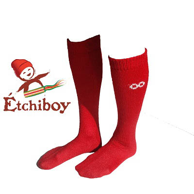 Knee high Socks Bas Hauteur Du Genou Alpaca Wool Laine Alpaga Red Rouge One Size Fits All 1