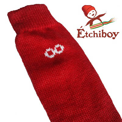 Knee high Socks Bas Hauteur Du Genou Alpaca Wool Laine Alpaga Red Rouge One Size Fits All 2