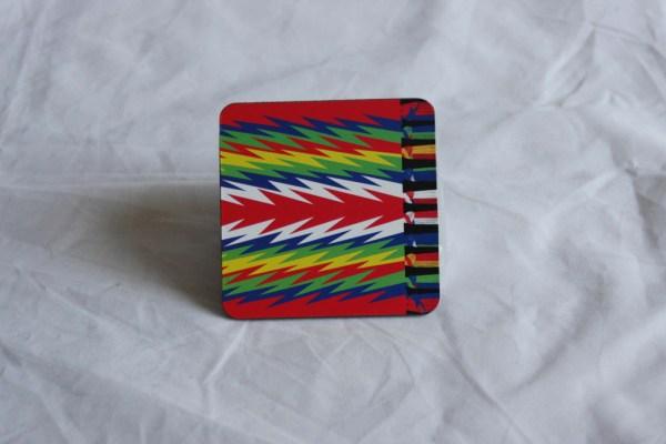 Coaster 6-pack Métis Flags and Sashes Sous-Verres Paquet de 6 Drapeaux Métis et Ceintures Fléchées 4