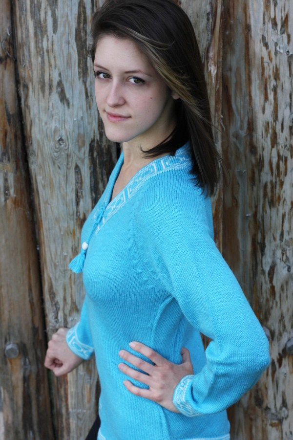 Light Turquoise Sweater Chandail Turquoise Pâle 2