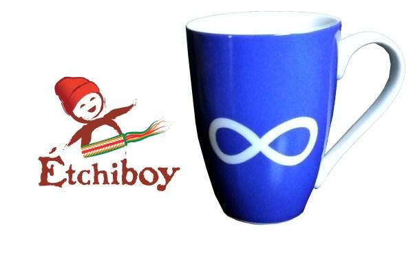 Blue Infinity Mug Tasse Infini Bleue 1