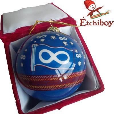 Christmas Bulb Blue Boule De Noël Bleue 2