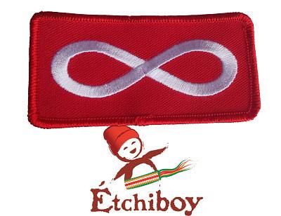 Patch Métis Flag Red Écusson Drapeau Métis Rouge 1