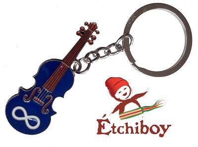 Métis Fiddle Keychain Porte-Clefs Violon Métis 1