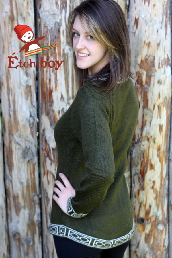 Olive Green Sweater Chandail Vert Olive 3