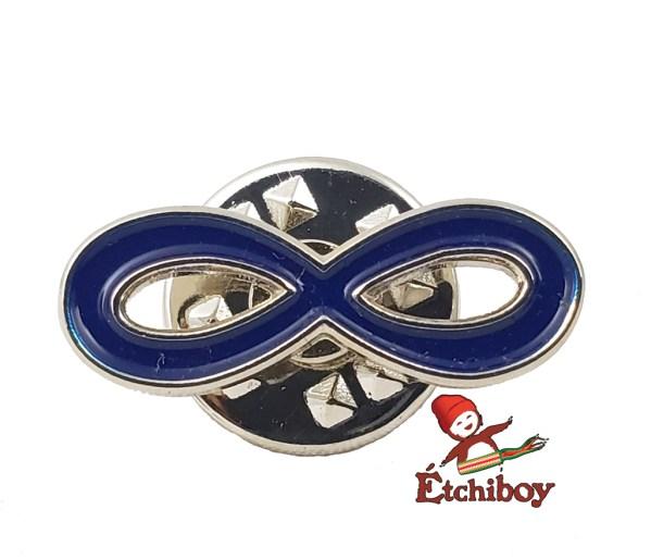 Métis Infinity Pin Blue Épinglette Infini Métis Bleu 1