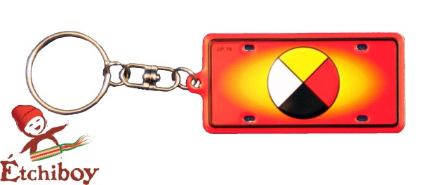 Keychain Porte-Clefs Medicine Wheel Roue Médicinale 1