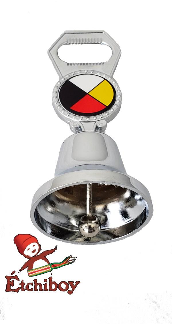 Medicine Wheel Bell With Bottle Opener Cloche Roue Médicinale Avec Décapsuleur 1