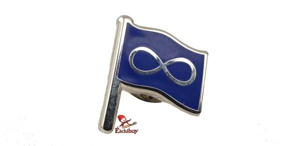 Pin Blue Métis Flag with Pole Épinglette Drapeau Métis Bleu avec Mât 1