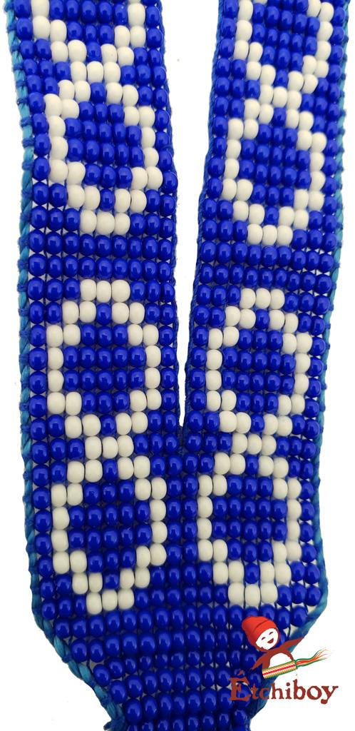 Étchiboy Lanyard Dragonne Beaded Blue Métis Perlée Bleue 2