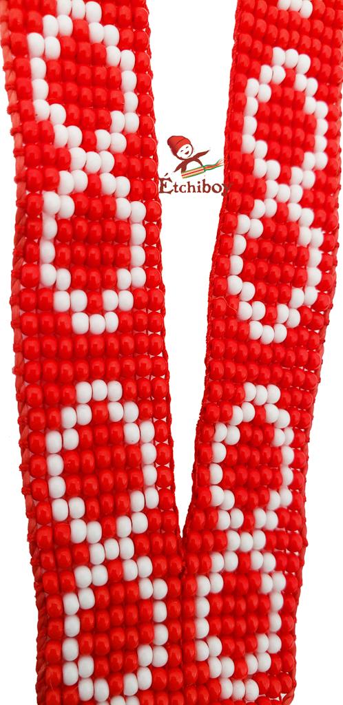 Étchiboy Lanyard Dragonne Beaded Red Métis Perlée Rouge 3