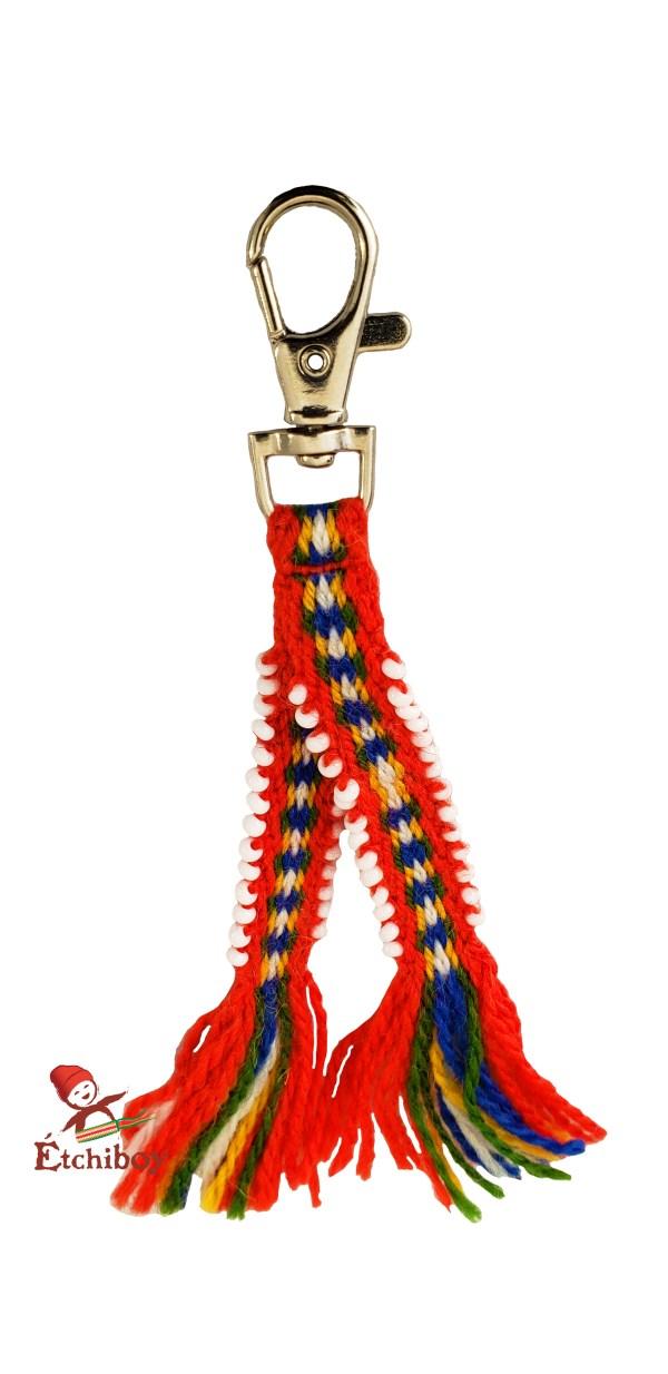 Étchiboy Sash keychain with beads Porte-Clef Ceinture Fléchée avec Perles 1