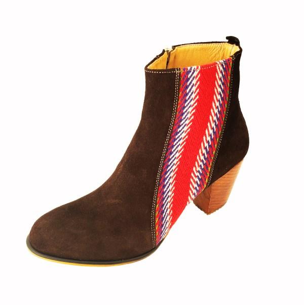 La Belle Bottine Leather Ankle Boot with Strap Cuir avec Bande 3