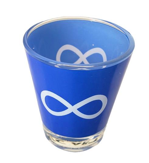 Metis Blue Shot Glass Verre Métis Bleu 2