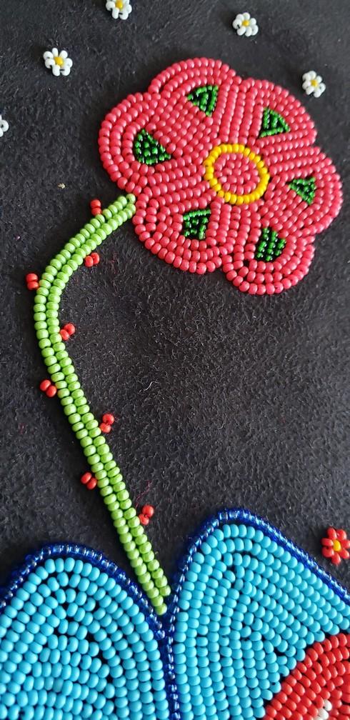 Metis Beadwork Perlage Métis 52/42 Cm - Pattern Modèle B 3