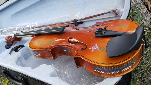 Fiddle With Metis Beadwork Design Violon Avec Dessin de Perlage Metis - Pattern/Modèle -5 2