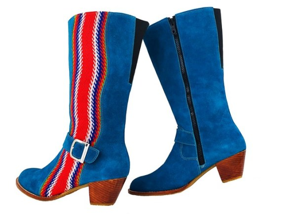 Red River Buckled Leather Boot With Strap Botte A Boucle Avec Bande 3