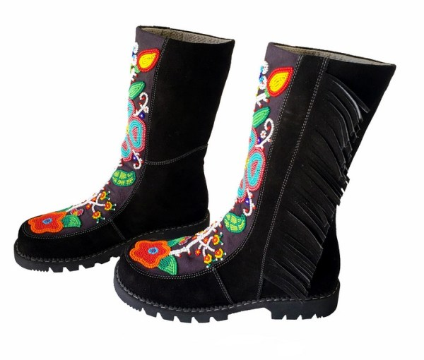 Etchiboy One of A Kind Beaded Boot Botte Perlée Unique - B 9