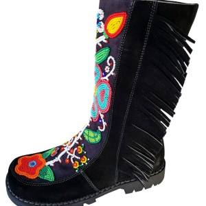 Leather Cuir Boot Botte Perlage Bead Etchiboy
