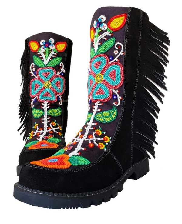 Etchiboy One of A Kind Beaded Boot Botte Perlée Unique - B 3
