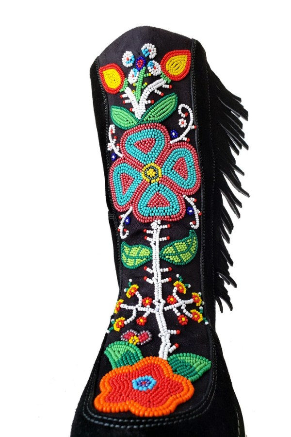 Etchiboy One of A Kind Beaded Boot Botte Perlée Unique - B 4