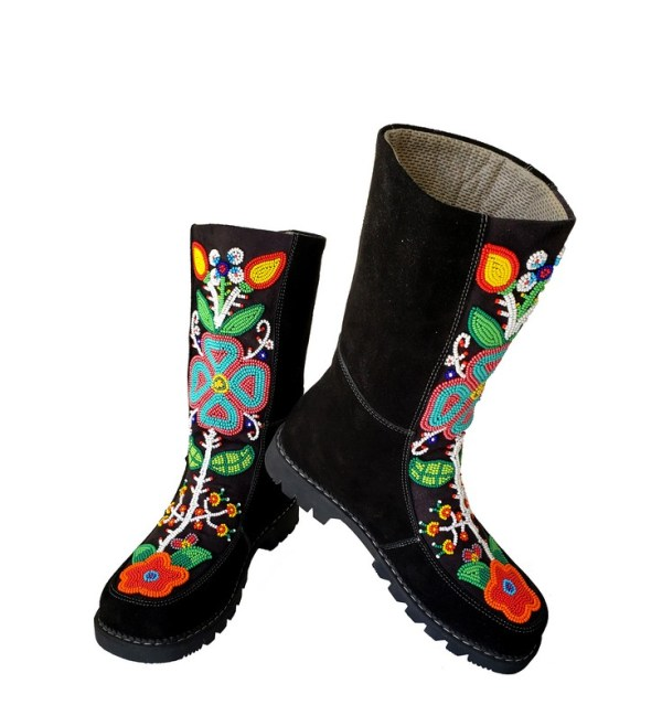 Etchiboy One of A Kind Beaded Boot Botte Perlée Unique - B 5