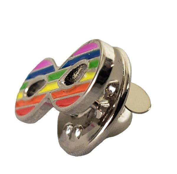 Épinglette infinité arc-en-ciel  Rainbow Infinity Pin 2