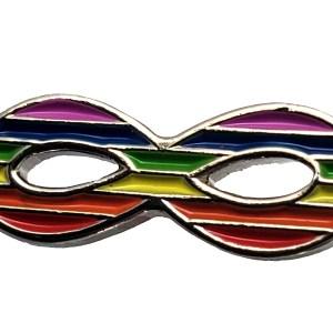 Épinglette pin infini rainbow arc-en-ciel Étchiboy