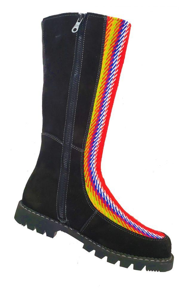 Belle Long Leather Boot With Front Strap Longue Botte Cuir Avec Bande Avant 2