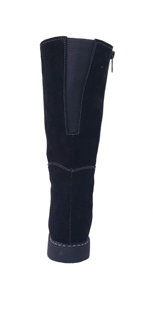 Belle Long Leather Boot With Front Strap Longue Botte Cuir Avec Bande Avant 7