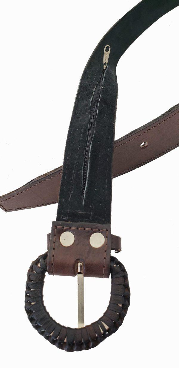 Leather Belt with Sash Inserts Ceinture de Cuir avec la Ceinture Fléchée Incrustrée 7