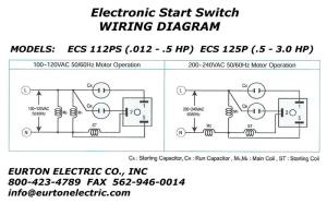 Electronic Motor Start Switch ECS112PS