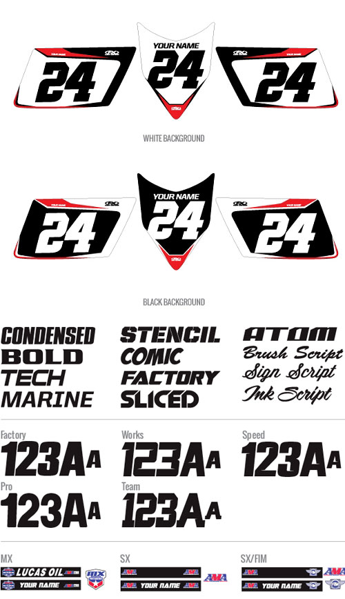 ATV Custom Pro Number Plate Backgrounds