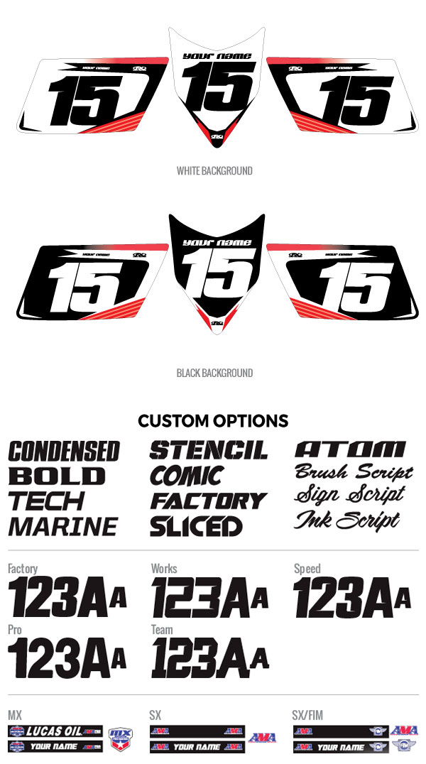 ATV Custom Atak Number Plate Backgrounds