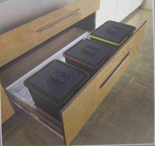 Pattumiere raccolta differenziata per cassetto  Formenti