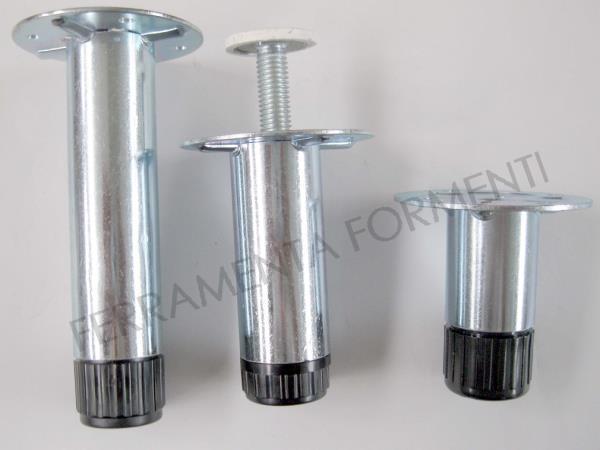 piedino in acciaio zincato per mobile zoccolino cucina regolabile max 1cm  scegliere altezza