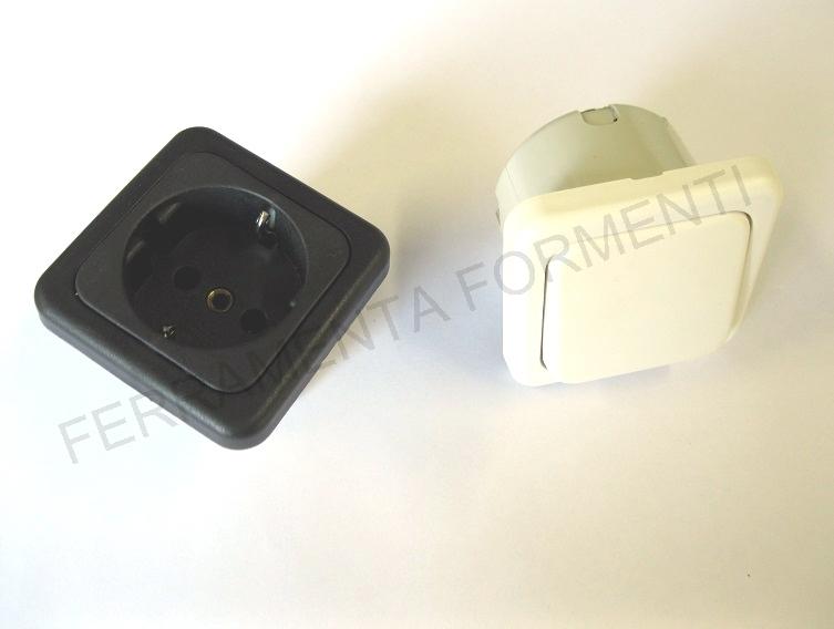 interruttore  presa da incasso per mobili modello bigqua bianco o nero  eBay
