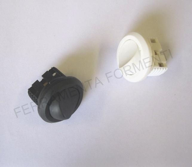 Mini interruttore da incasso foro 22 mm bianco avorio o nero 12V