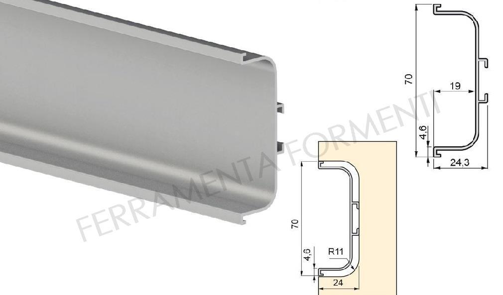 MIDDLE recessed handle profile for kitchen cabinet